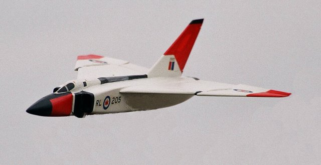 Avro Arrow coming into land