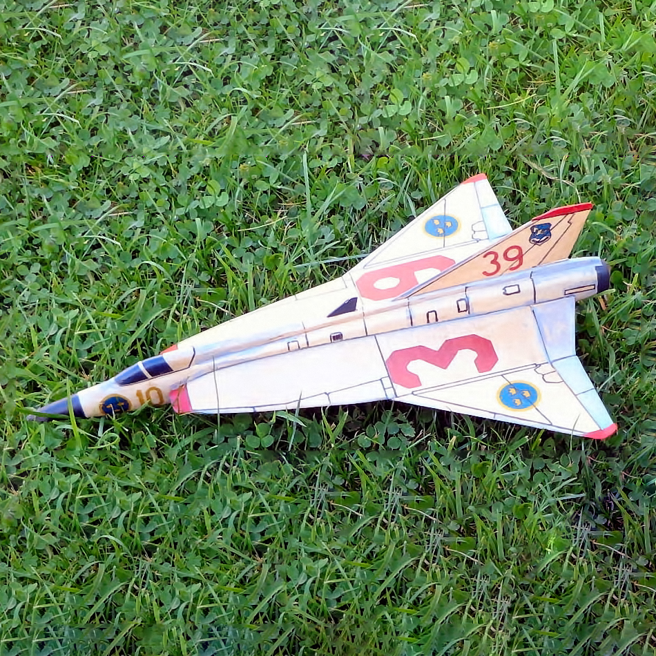 Semi Profile Saab Draken - for Jetex